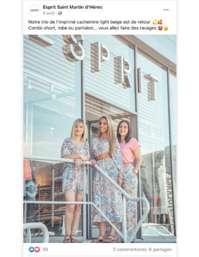 post facebook Esprit vêtement