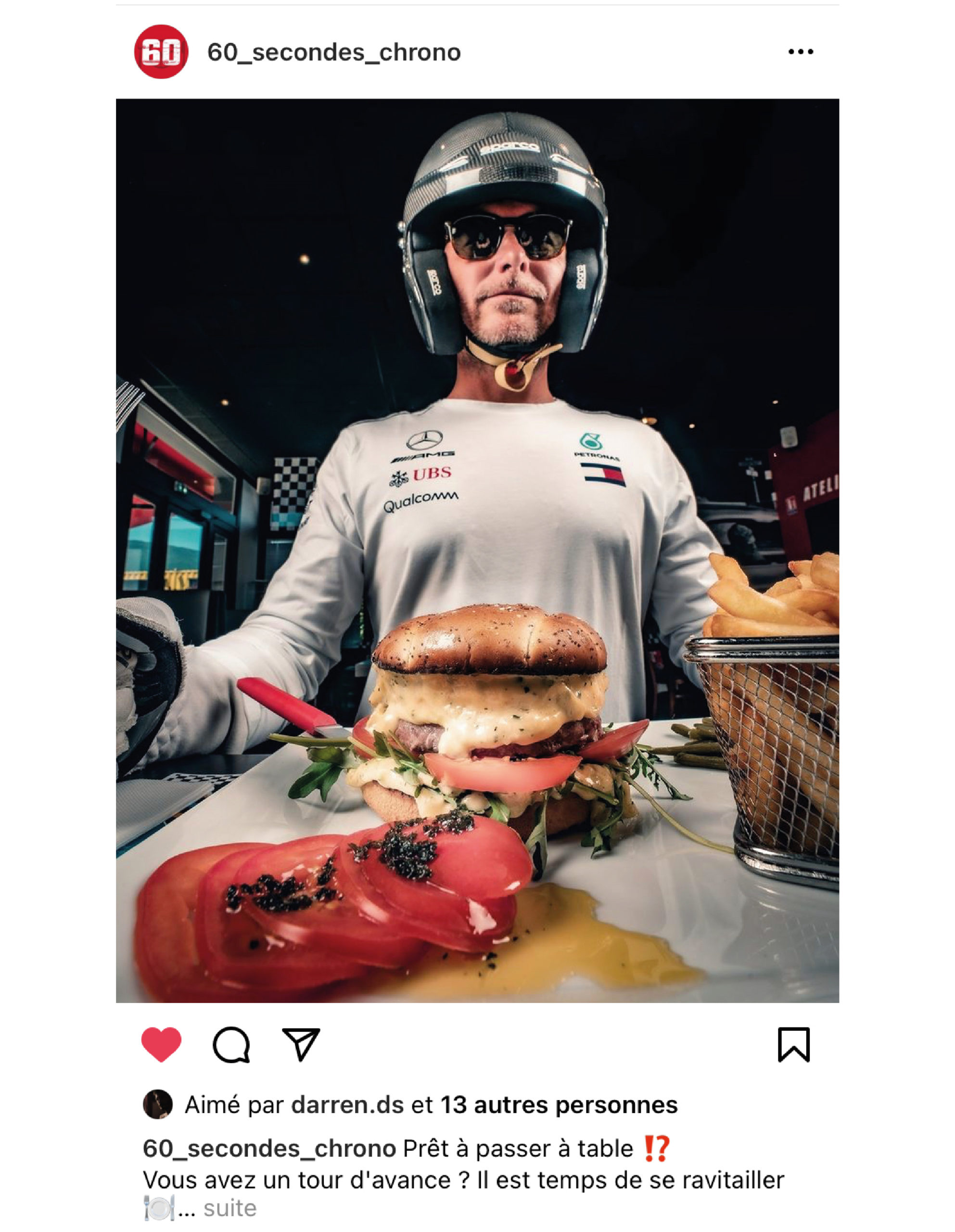 publication instagram 60 secondes chrono